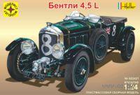 """Автомобиль """"Бентли 4,5L"""" (масштаб: 1/24)"""