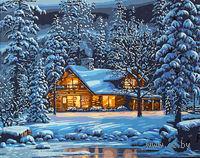 "Картина по номерам ""Зимним вечером"" (400х500 мм)"