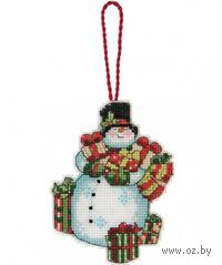 """Вышивка крестом """"Снеговик"""" (арт. DMS-70-08896)"""