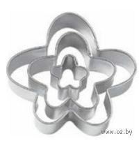 """Набор форм для вырезания теста металлических """"Смешной цветок"""" (3 шт; арт. WLT-417-436)"""