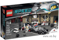 "LEGO. Speed Champions. ""Пункт техобслуживания McLaren Mercedes"""