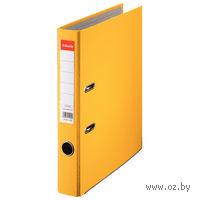 Папка-регистратор А4 с арочным механизмом 50 мм (ПВХ ЭКО, желтая)