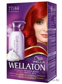 Краска-мусс для волос WELLATON (тон: 77/44, насыщенный красный)