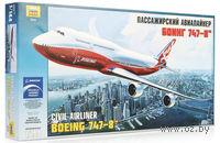 Пассажирский авиалайнер Боинг 747-8 (масштаб:1/144)