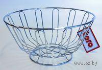 Подставка для фруктов металлическая хромированная (25 см; арт. 320052)