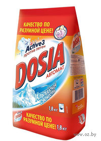 """Стиральный порошок для автоматической стирки DOSIA Active 3 """"Альпийская свежесть"""" (1,8 кг)"""
