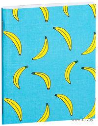 """Блокнот белый """"Бананы"""" А7 (727)"""