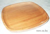 Блюдо бамбуковое (25х25х1,9 см)