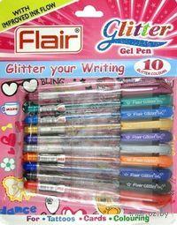 """Набор гелевых ручек """"Flair. Glitter"""" (10 штук)"""