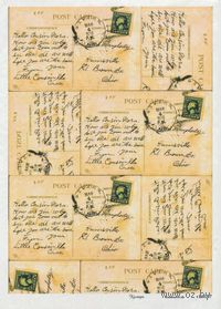 "Бумага для декупажа рисовая ""Старинные письма"" (290х210 мм, арт. AM400057)"