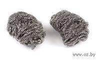 Губка для мытья посуды металлическая (2 шт.; 60х60 мм)