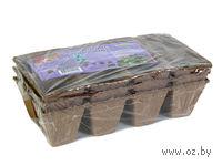 Набор лотков для рассады торфяных на 8 ячеек (24 шт; 7х7 см)