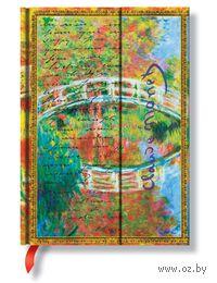 "Записная книжка Paperblanks ""Клод Моне. Мостик, письмо к Моризо"" в линейку (формат: 130*180 мм, средний)"