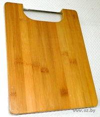 Доска разделочная бамбуковая (28*22*1,8 см, арт. 4610010)