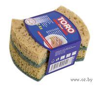 Набор губок для мытья посуды поролоновых TORO (2 шт, 10*8 см)
