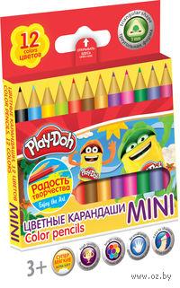 """Цветные карандаши """"Mini"""" трехгранные (12 цветов)"""
