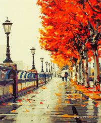 """Картина по номерам """"Осенний дождь"""" (500х400 мм)"""