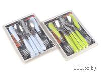 Набор столовых приборов металлических с пластмассовыми ручками (12 предметов)