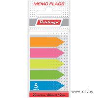 Набор флажков с клеевым краем (5 цветов по 20 листов; 44х12 мм; арт. LSz_44101)