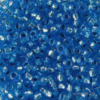 Бисер прозрачный с серебристым центром №08236 (синий)