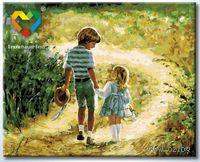 "Картина по номерам ""Беззаботное детство"" (400x500 мм; арт. HB4050131)"