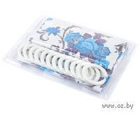 Занавес-шторка для ванной пластмассовая (12 крючков; 180х180 см)