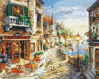 "Картина по номерам ""Прибрежный ресторан"" (400x500 мм; арт. VS046)"
