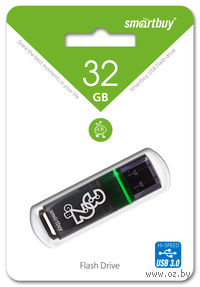 USB Flash Drive 32Gb SmartBuy Glossy series (Dark Grey)