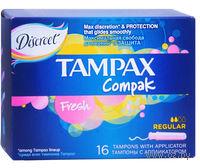 Тампоны TAMPAX Compak Fresh Regular (16 штук)