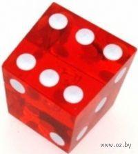 "Кубик читерский D6 ""Крукт"" (красно-белый)"