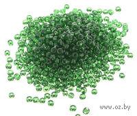 Бисер прозрачный №7B (зеленый; 11/0)