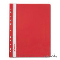 Папка-скоросшиватель с прозрачной обложкой с перфорацией (красная)