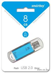 USB Flash Drive 8Gb SmartBuy V-Cut (Blue)