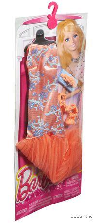 """Одежда для куклы """"Барби. Гламур. Оранжевое платье с аксессуарами"""" (арт. CFX97)"""