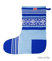 Носок для подарков Snow (синий)