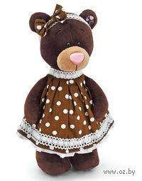 """Мягкая игрушка """"Медведь Milk в платье в горошек"""" (30 см)"""