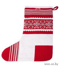 Носок для подарков Snow (красный)