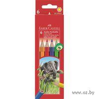Цветные карандаши JUMBO в картонной коробке (6 цветов)