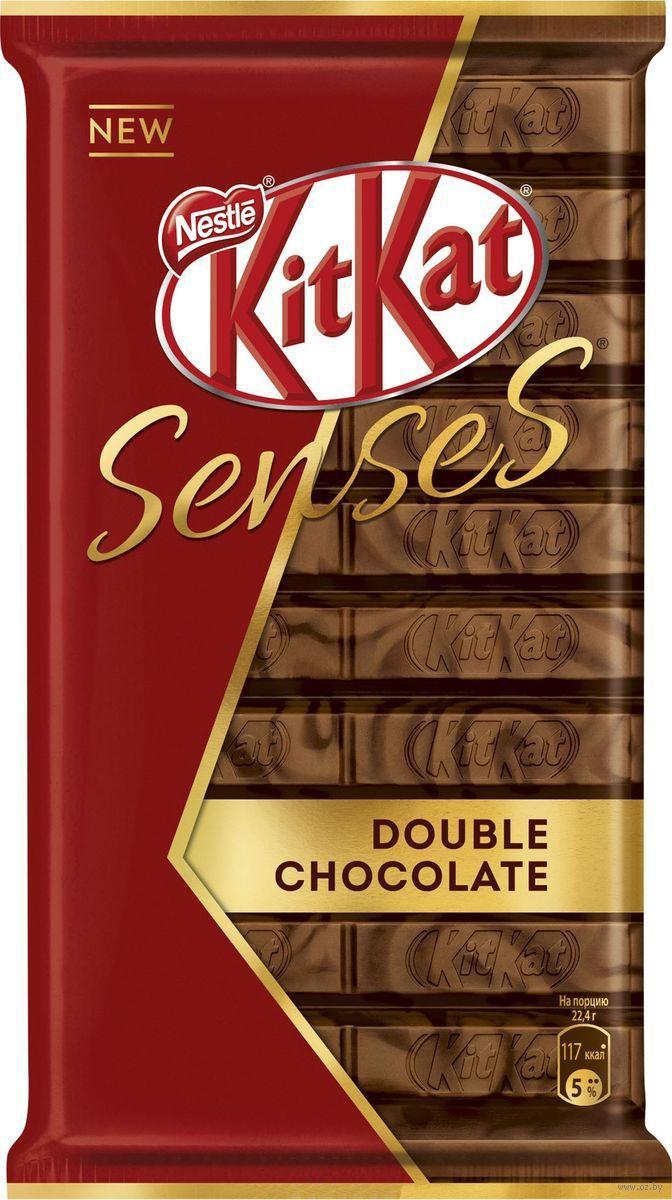 """Батончик шоколадный """"<b>KitKat</b>. <b>Senses</b>. <b>Double Chocolate</b>"""" (112 г ..."""