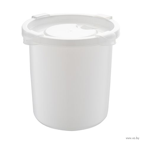 """Контейнер для микроволновки """"Bon Appetit"""" (139х137х122 мм; снежно-белый) — фото, картинка"""