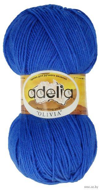 "Пряжа ""Adelia. Olivia №7"" (100 г; 250 м; синий) — фото, картинка"