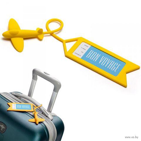 """Бирка для багажа """"Tag me"""" (желтая)"""