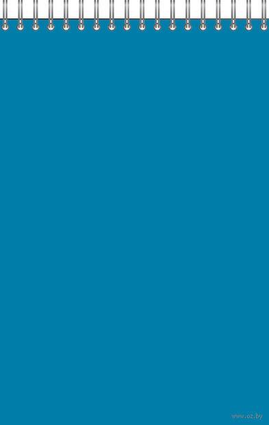 "Блокнот в клетку на спирали А5 ""Для конференций"" 60 листов (синий)"