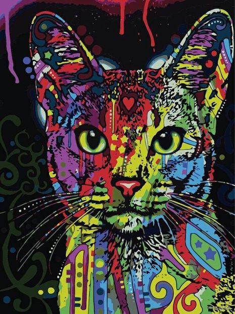 "Картина по номерам ""Кошачий взгляд"" (500х650 мм) — фото, картинка"