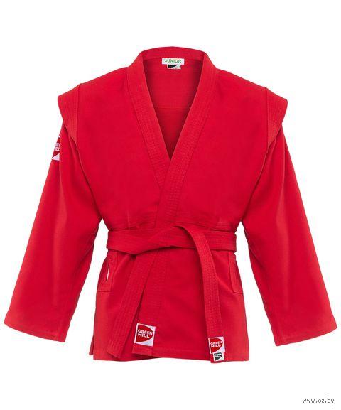 """Куртка для самбо """"Junior SCJ-2201"""" (р. 4/170; красная) — фото, картинка"""