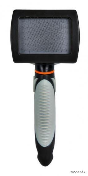 Мягкая щетка-пуходерка для ухода за шерстью (7x16 см)