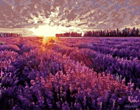 "Картина по номерам ""Закат над лавандовым полем"" (400х500 мм) — фото, картинка"