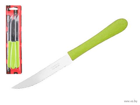 Нож для стейка (3 шт.; зеленый) — фото, картинка