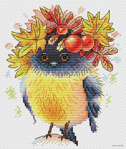 """Вышивка крестом """"Осенняя пташка"""" (170х140 мм) — фото, картинка"""