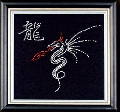 """Вышивка бисером """"Год дракона"""" (180х180 мм) — фото, картинка"""